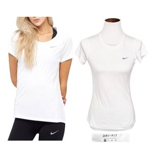 Nike white workout top